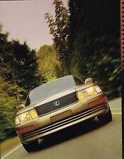 Big 1993 LEXUS LS 400 / LS400 Spiral Bound Brochure/Catalog with Color Chart