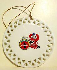 Coca-Cola Clown Porcelain Decoration  Ornament