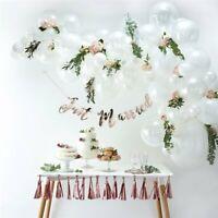 White Balloon Garland Arch wedding bride marble baby birthday confetti DIY gift