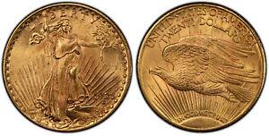1925 AV $20, Double Eagle. PCGS MS65 Saint-Gaudens. Philadelphia IGWT KM 131.