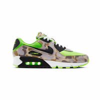Nike Men's Air Max 90 Ghost Green Duck Camo Volt Atmos Running Shoes CW4039-300