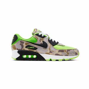 Nike Men's Air Max 90 Ghost Green Duck Camo Volt Atmos Running Shoes CW4039-300