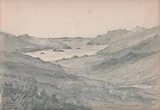 Salruck Connemara Irlanda Paisaje Pintura Acuarela Victoriana 1903