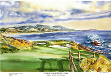 Pebble Beach Golf Links Limited Edition Art Print Signed and numbered by artist