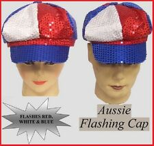 AUSSIE Sequin CAP Flashing LIGHTS Australia Commonwealth Olympic Dance Party NEW