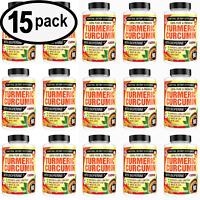 Turmeric Curcumin 1500 mg Ultra High Absorption Extra Strength 90ct - 15 PACK