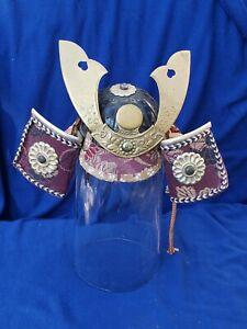 Japanese Vintage Samurai warrior Kabuto helmet mini doll size
