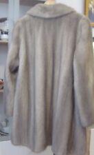 Cappotto visone grigio argento SILVER SAGA MINK FUR COAT PIEL PELLICCIA FOURRURE VISON L