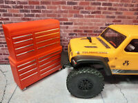 Toolbox 1/24 scale SCX24 RED Shop Garage Crawler Doll House Accessories