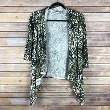 Jones New York Womens Sweater 100% Cotton Open Front Cardigan Drape Front Size S