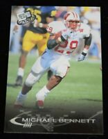 Authentic Football Card Michael Bennett Wisconsin Badgers