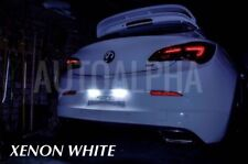 Vauxhall ASTRA GTC MK6 XENON BRIGHT WHITE LED NUMBERPLATE LIGHT BULBS UPGRADE