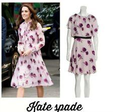 Kate Spade Pink Purple Cold Shoulder Midi Dress size small Us4 / Uk 8