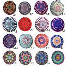 Bohemian  Throw Round Cushions Cover Mandala Pillows Cover Case Meditation