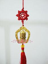 Tibet Buddhism Prayer Wheel with Hand Made Auspicious Wheel lucky Auto Hanging