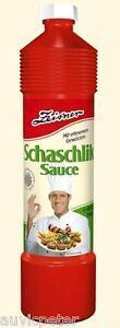Zeisner SCHASCHLIK SAUCE 940g/800ml, Preservatives Free, Salsa Schaschlik