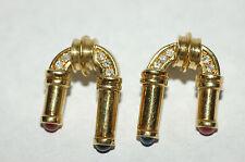 designer Sapphire Ruby diamond earrings 18k