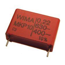 2 WIMA impulso fissa POLIPROPILENE CONDENSATORE mkp10 630v 0,22uf 22,5mm 089743
