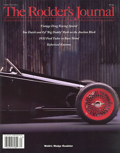 No. 33 Newsstand Cover B Webbs Wedge Roadster RODDERS JOURNAL