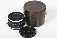 Minolta W Rokkor-QE 35mm, f/4  Lens  SR Camera Mount