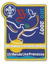 100 Years of World Scouting - FRENCH Scout 1 World 1 Promise Official Patch