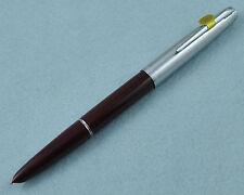 Hero 100 Burgundy Fountain Pen 14K Gold Fine Nib Plastic Barrel Without Box