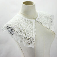Lace Collar Women Detachable Lapel Choker Necklace Shirt Cloak Fake False Collar