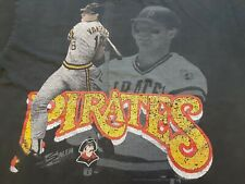 VTG 90s 1990 MLB Pittsburgh Pirates #18 Andy Van Slyke Tee T Shirt Black X-Large