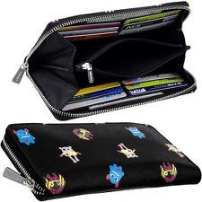 Esprit Zipper Ladies Purse Monster Purse Black Wallet Purse New