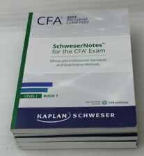 Cfa 2019 Program Exam Prep Schweser Cfa Notes Level I Book 1-5 + Quicksheet New
