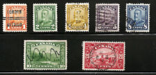 CANADA 149 // 157 USED PARTIAL SET TO 20 CENTS, PRECANCEL, FREE SHIPPING IN USA