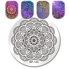 Round Stamping Plate Mandala Dot Manicure Nail Art Image Plate DIY BORN PRETTY