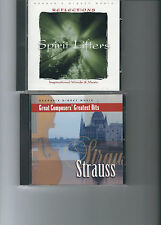 READERS DIGEST MUSIC 2 SEPARATE CDs -  STRAUSS & REFLECTIONS SPIRIT LIFTERS
