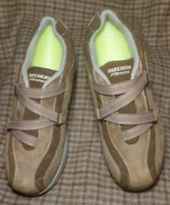 Skechers Shape Ups 11815 Toner Shoes Size 9 Suede Brown Hook and Loop Z Strap