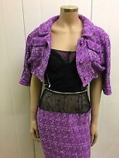 Nina Ricci Stunning Silk Tweed Suit Straight Off The Catwalk RRP 2k