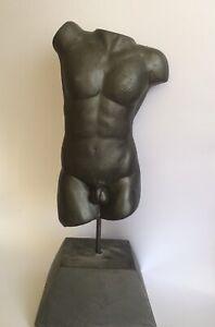 Decorative Sculpture, Male Torso, Nude