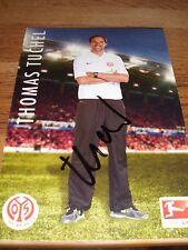 Autogrammkarte T. Tuchel, FSV Mainz 05, BVB Borussia Dortmund 09, Ultras, VfB,