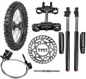 14in. 60/100-14 FRONT Wheel Rim Tire + Front Forks Triple Tree + Axle + Caliper