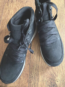 MERRELL  Black Suede High Top Trainers Size 11
