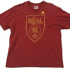 Adidas Real Salt Lake Shirt Short Sleeve Tee Red Mens Size 2XL. C9