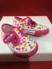 NEW Toddler Girls Genuine Kids From OshKosh Canvas Polka Dot Sneakers Size 2