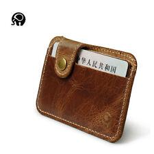 Mens RFID Blocking Slim Mini Wallet Thin Genuine Leather Credit Card Holder