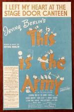 "Irving Berlin – I Left My Heart At The Canteen Door from ""This Is The Army"" 1942"
