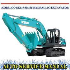 KOBELCO SK115 SK135 HYDRAULIC EXCAVATOR WORKSHOP SERVICE REPAIR MANUAL ~ DVD