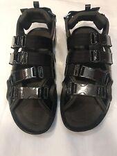 DolceGabbana Black Mens 4 Strap Sandals
