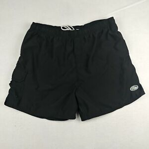 Quiksilver Edition Mens Extra Large Swim Shorts Black Side Pocket Polyester