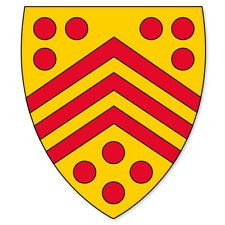 "Gloucester England Coat of Arms bumper sticker 4"" x 5"""