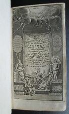 1752 Dutch Statenbijbel 4 in 1 Dordrecht RARE ENGRAVINGS Black Morocco Leather