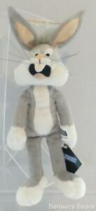 Warner Brothers Store 1999 Bugs Bunny Grey Bean Bag Plush 22cms With Tags