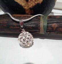 Collar / Cadena / Colgante de  PLATA 925 .Bola Shamballa.Precioso